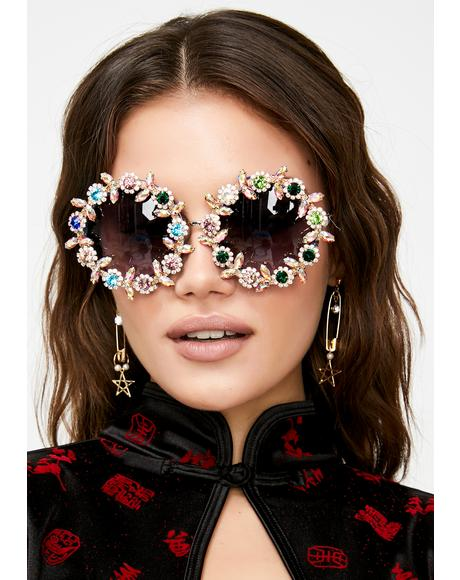 Lust For Luxe Rhinestone Sunglasses