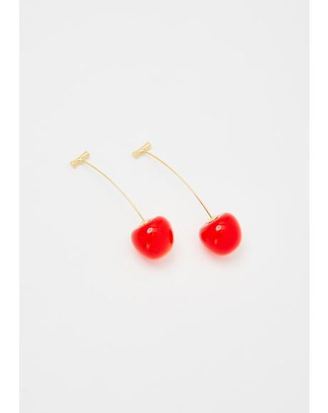 Mon Cherry Drop Earrings