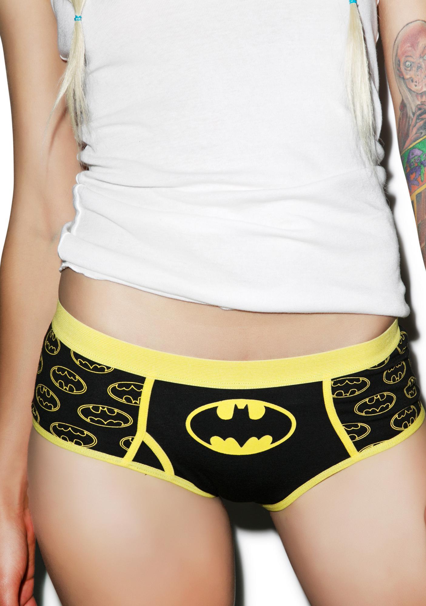 4fb6e4f4e81e Undergirl Batman Glow In The Dark Logo Panties | Dolls Kill