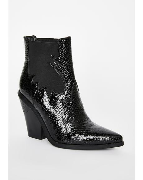 Heart Patent Boots