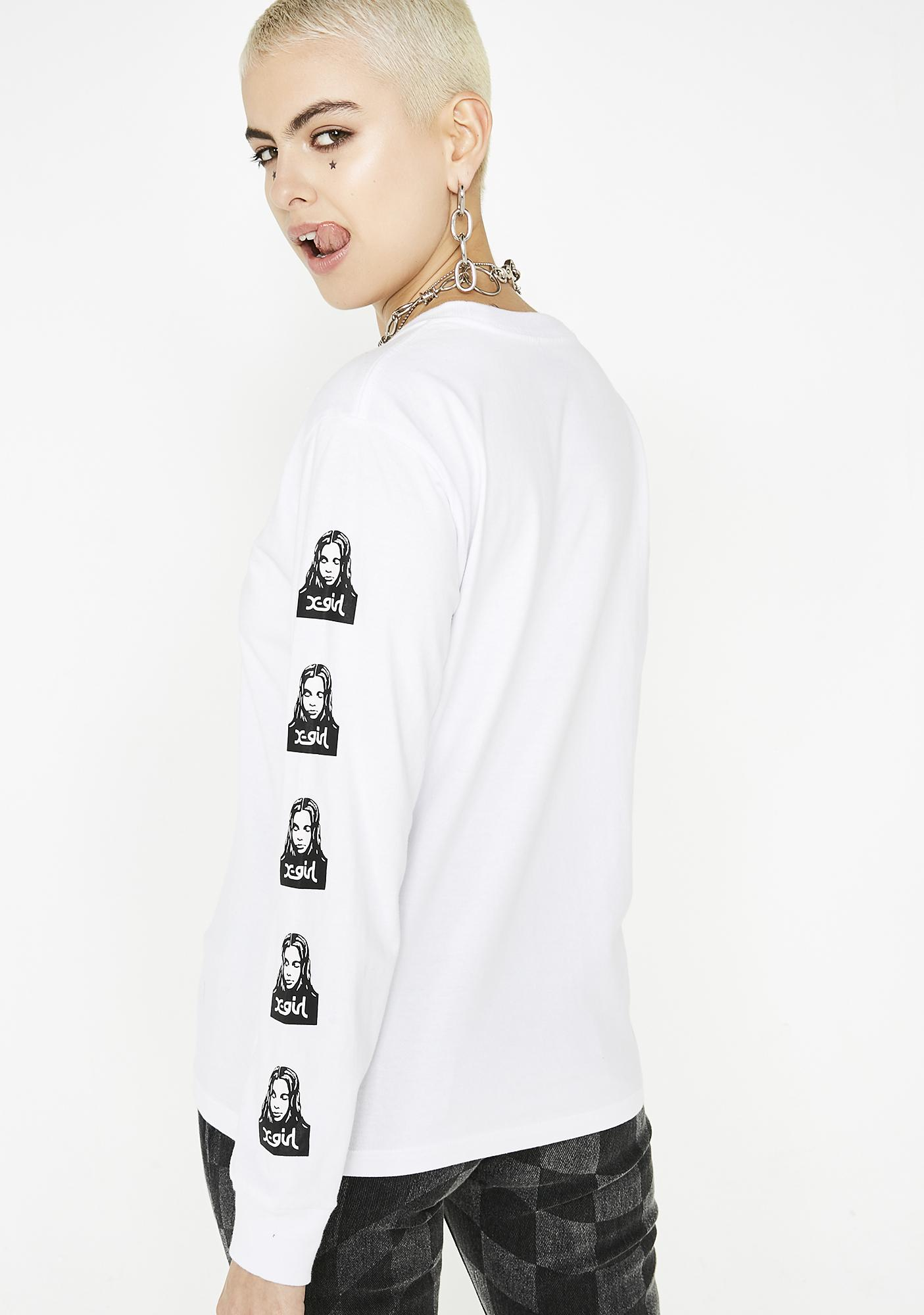 x-Girl Face Long Sleeve Regular Tee