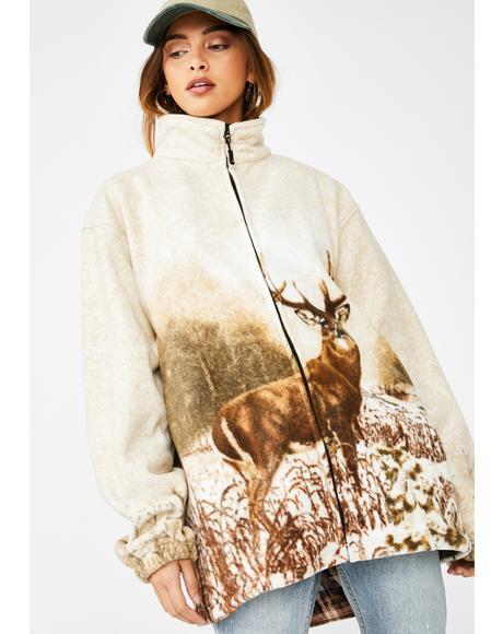 No Bucks Given Fleece Jacket