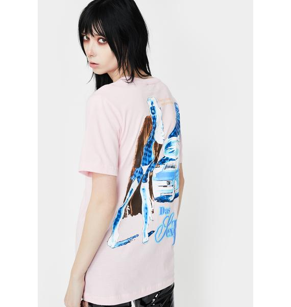 Funeral Pink Sex Taxi Graphic Tee
