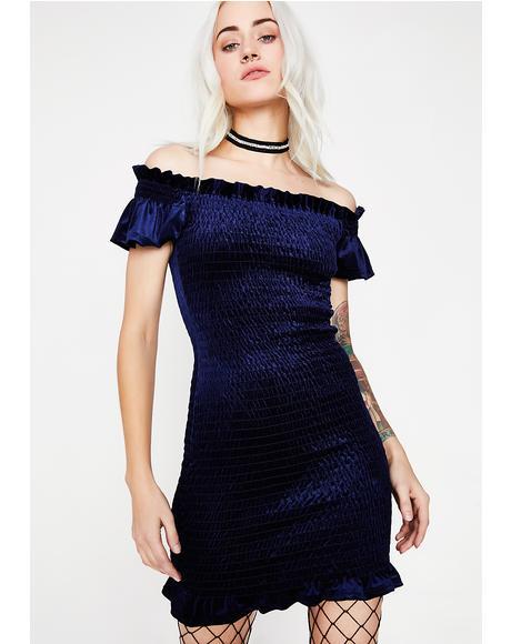 Stay The Night Velvet Dress