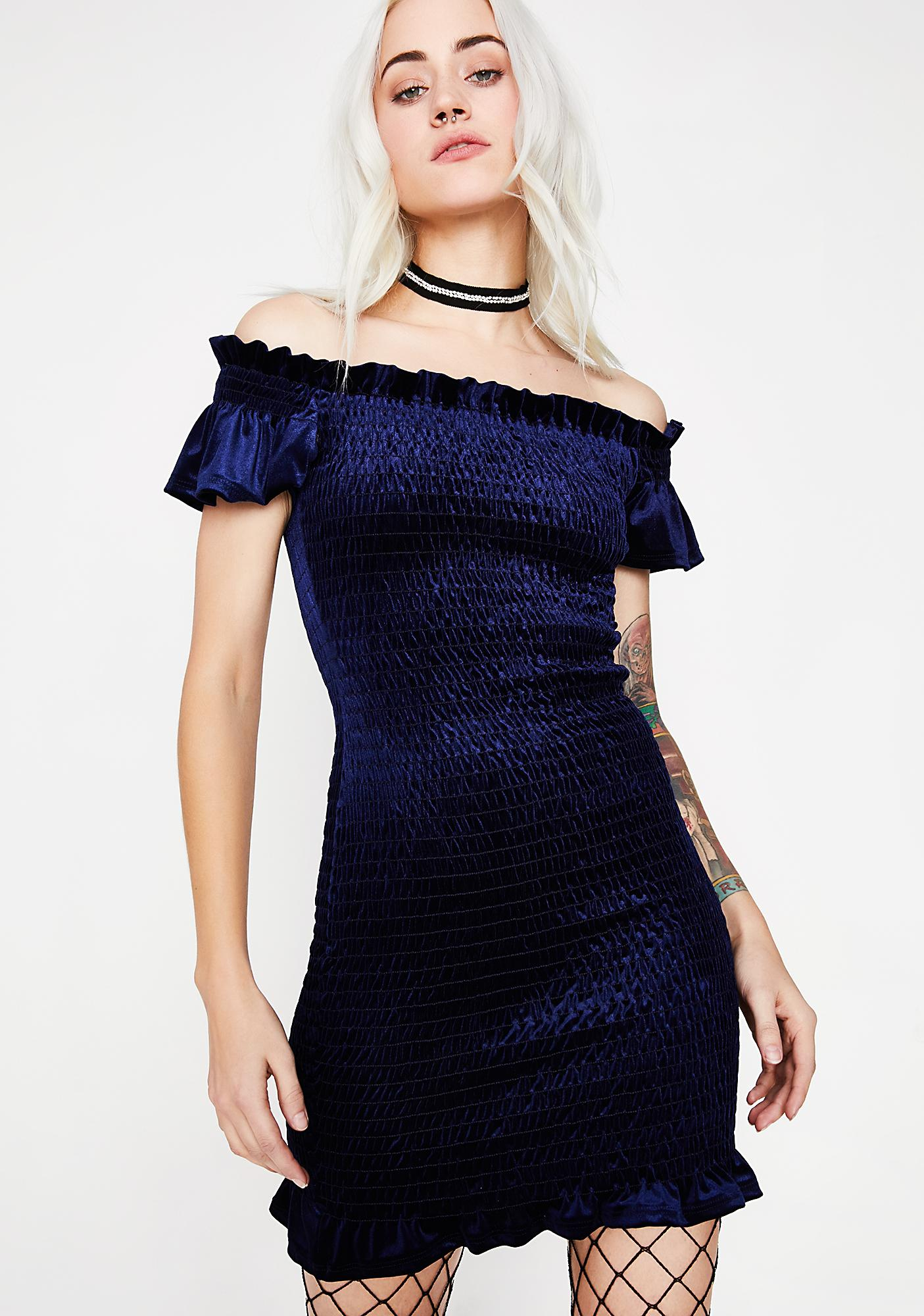 Stay The Night Velvet Dress