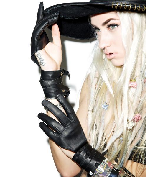 One Teaspoon Le Femme Leather Gloves