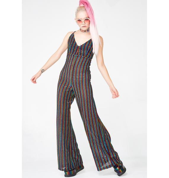 Groovy Daze Striped Jumpsuit