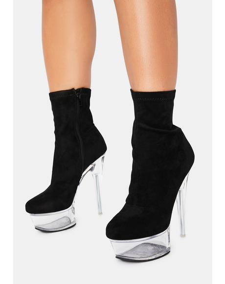 Kyky Clear Sock Booties