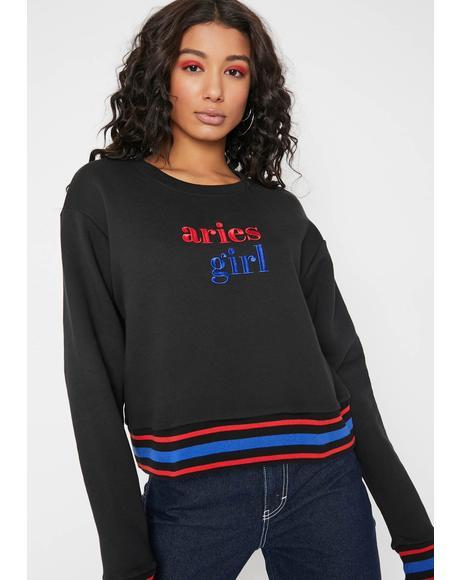 Lil Miss Aries Stripe Sweatshirt
