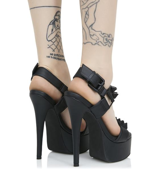 Current Mood Midnight Queen Pin Studded Heels