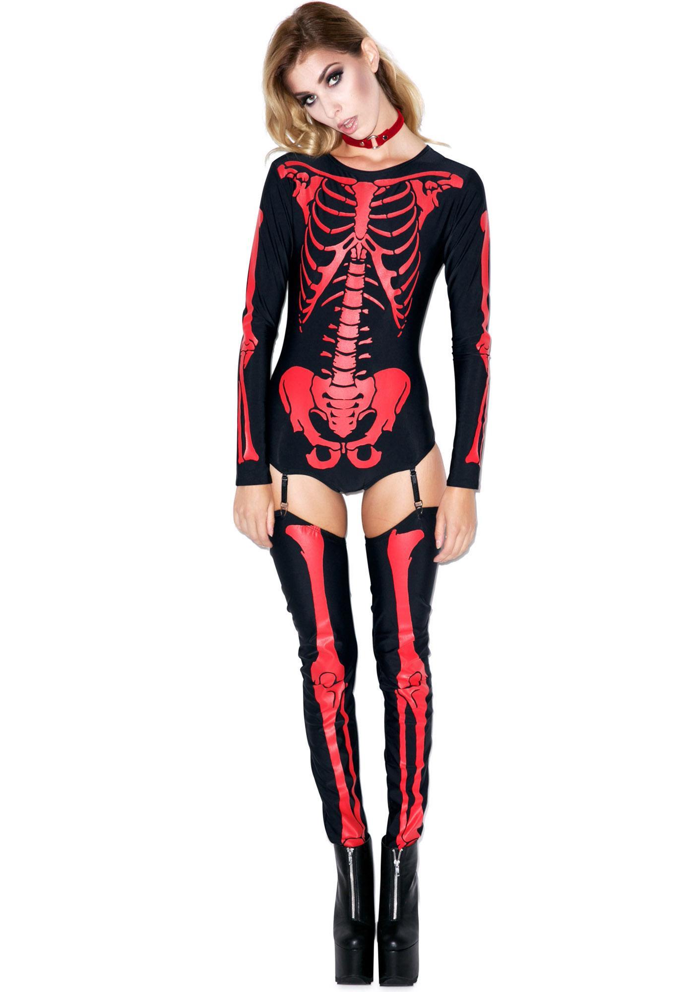 Fiery Frame Skeleton Costume