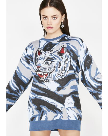 Tiger Nerm Knit Sweater