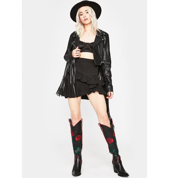 Bad Can U Handle Ruffle Skirt