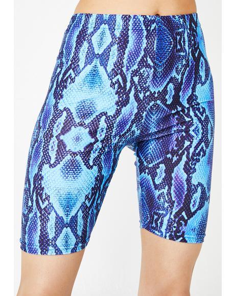 Blue Viper Biker Shorts