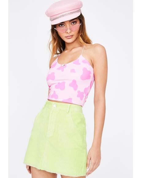 Pink OG Moo Moo Skinny Tank