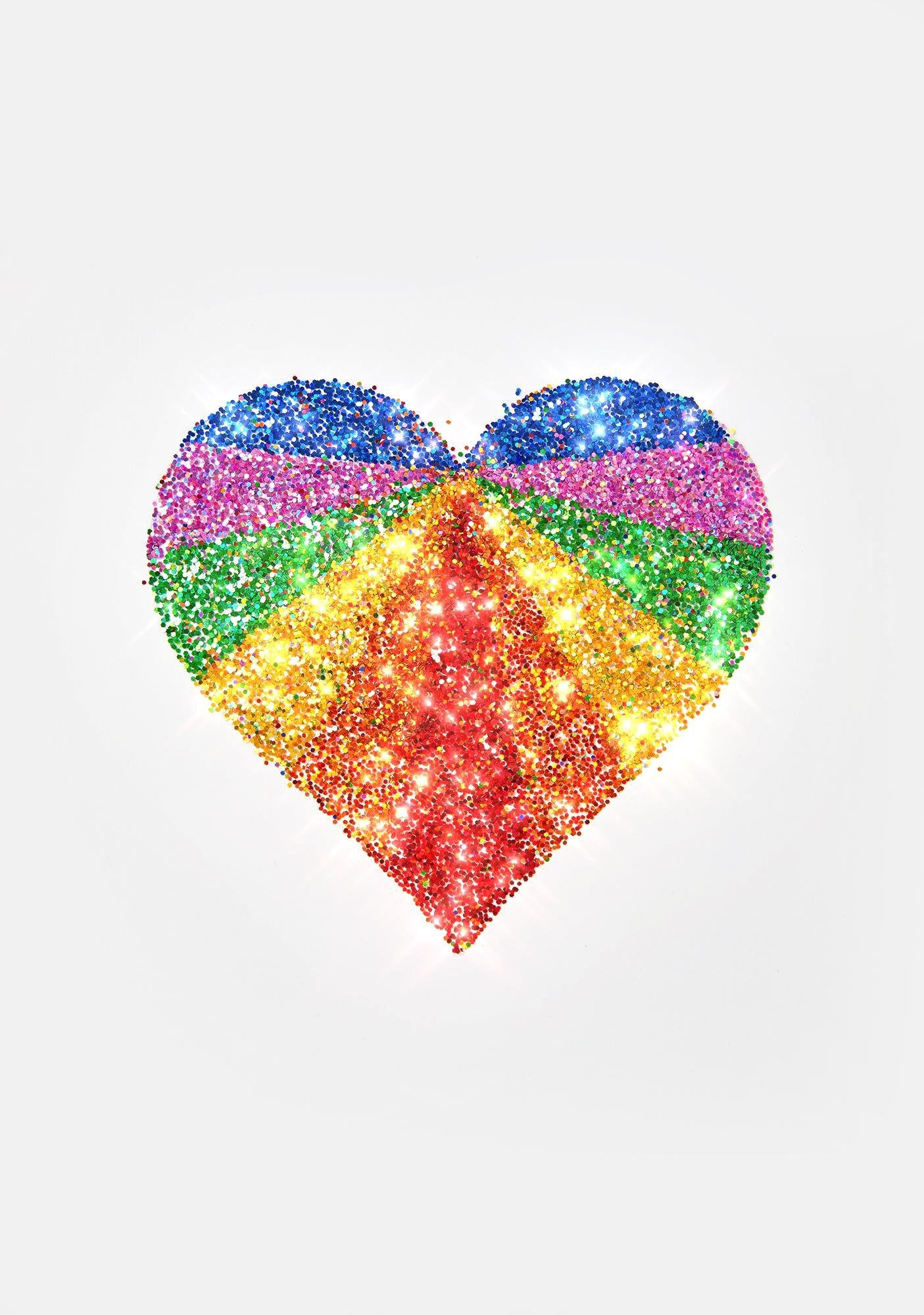 SHRINE Rainbow Heart Body Sticker