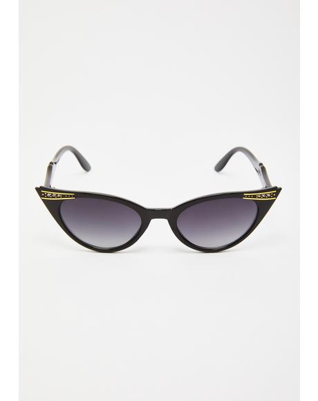 Rich Girl Cat-Eye Sunglasses