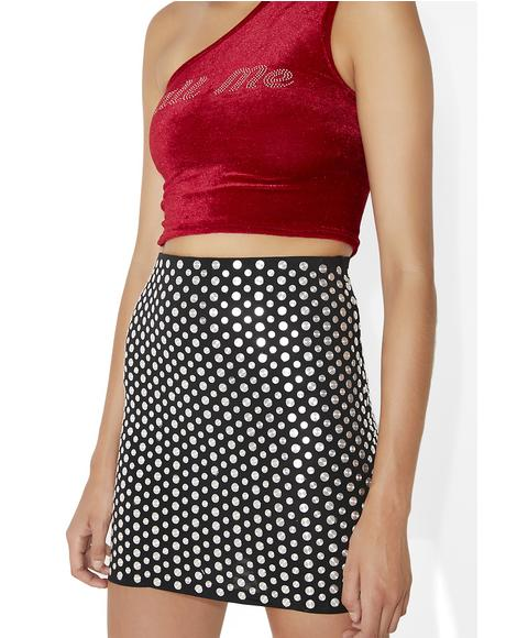 Connect Da Dots Mini Skirt