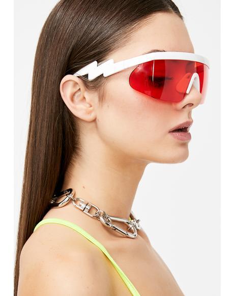 Lit God Of Thunder Shield Sunglasses