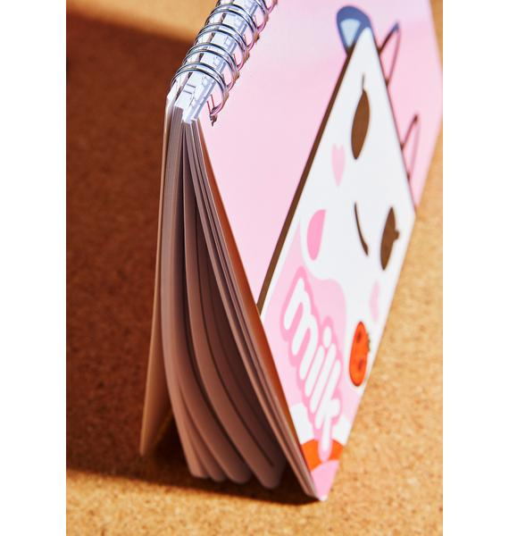 Tokidoki Strawberry Milk Notebook