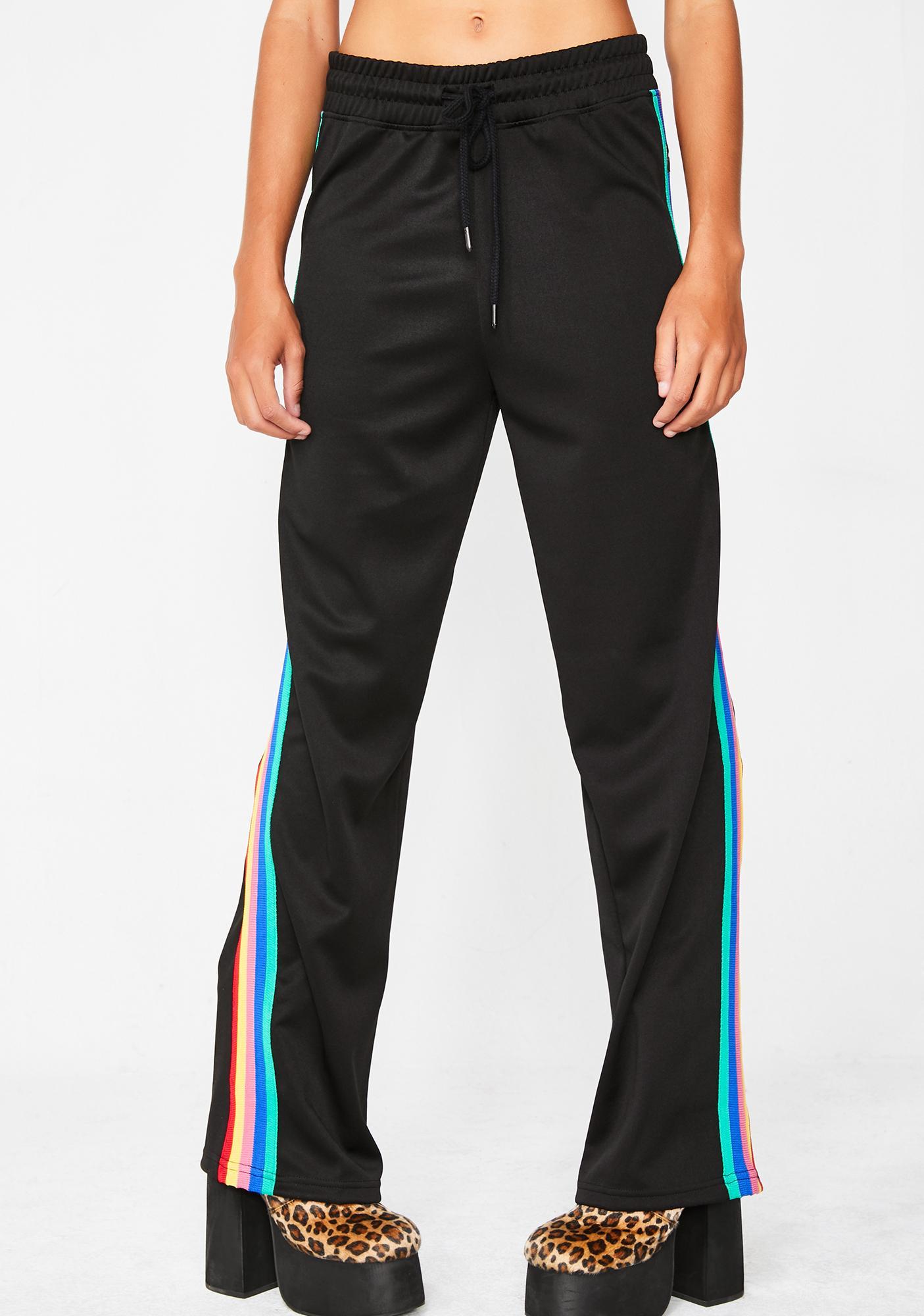 Minga Rainbow Stripe Track Pants