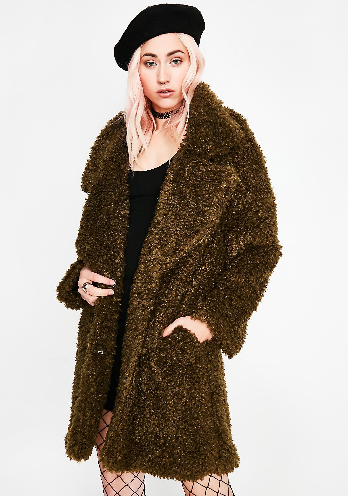 Dank Petty Yeti Fuzzy Coat by Settle Down
