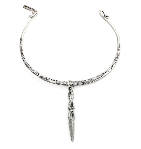 Vanessa Mooney The Palladium Silver Statement Necklace
