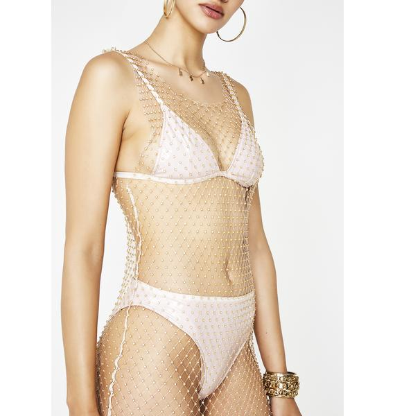 Kiki Riki Tan Cover Me In Sparkle Maxi Dress