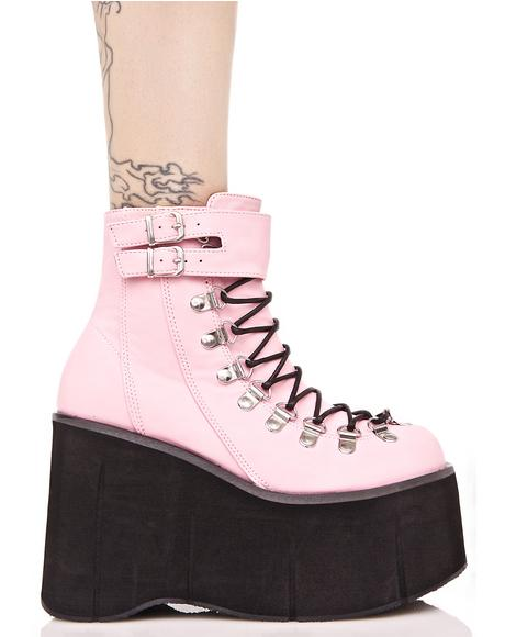 Sweetie Kera Lace-Up Platform Boots