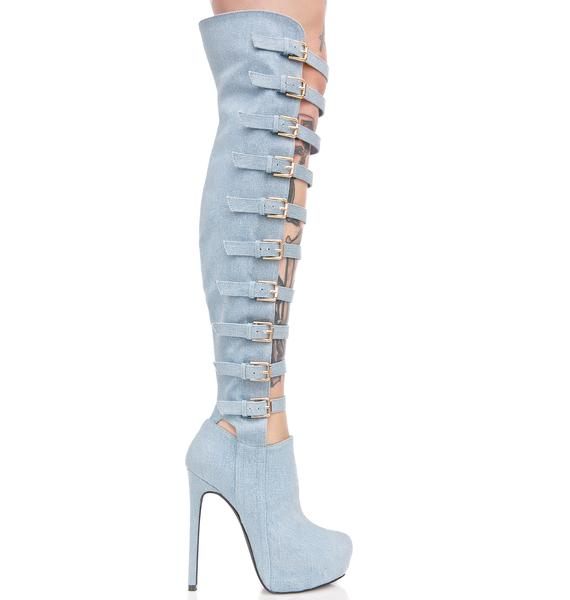 Privileged Joie Strappy Heeled Boots