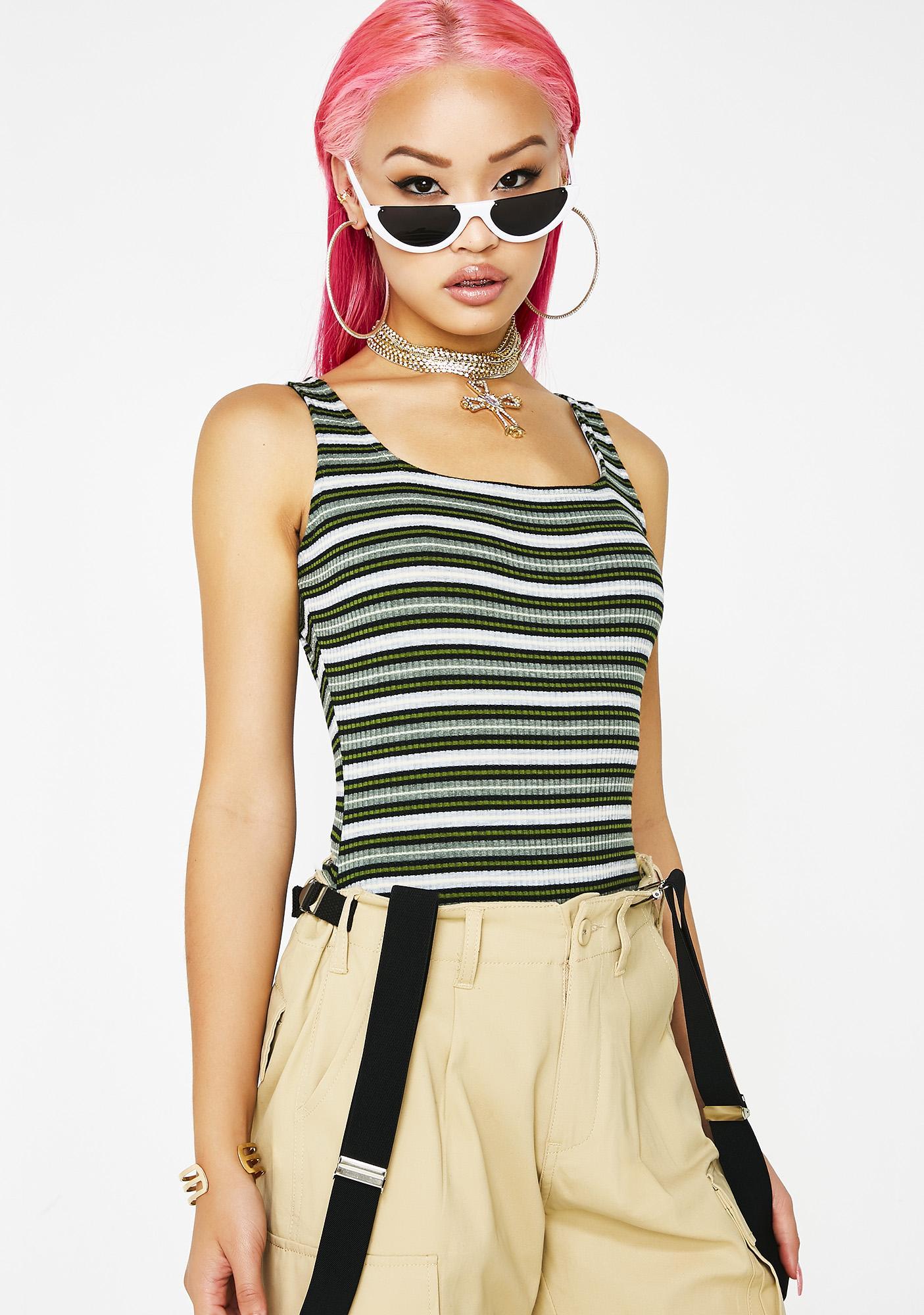 Got It Like Dat Striped Bodysuit