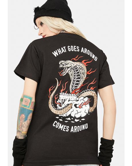 Dark Cobra Fire Graphic Tee