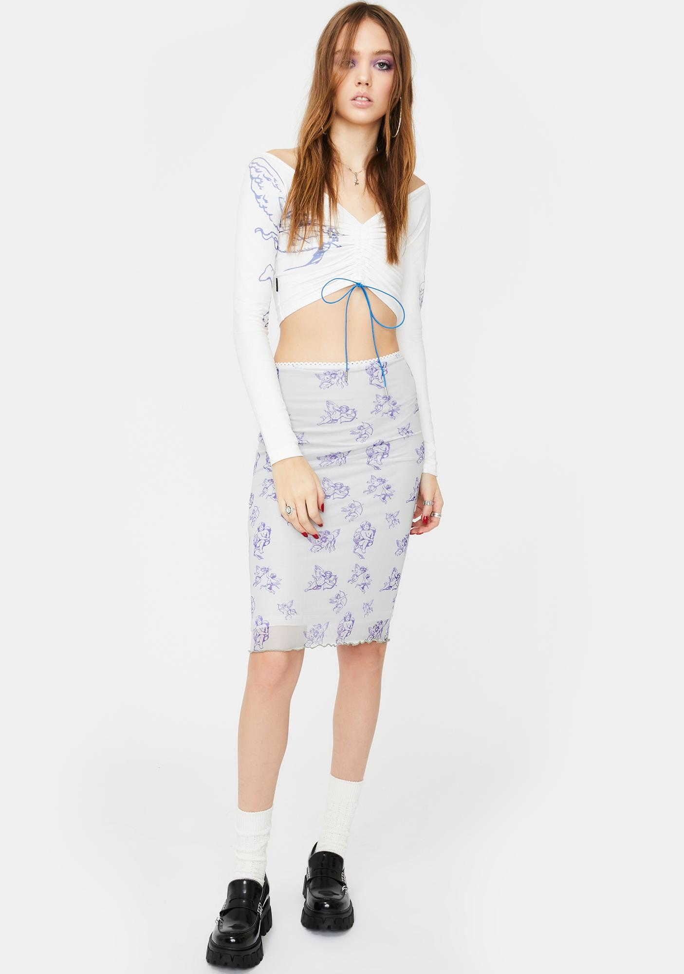 ZEMETA Cupid Midi Skirt