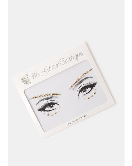 Gold Rhinestone Eye Gem Pack