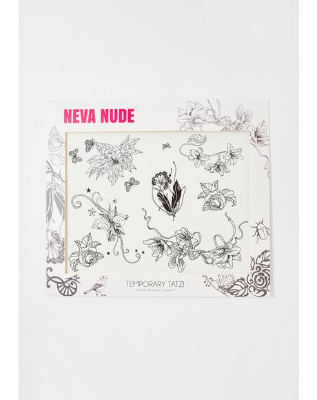 Butterfly Floral Temporary Tattoo Set