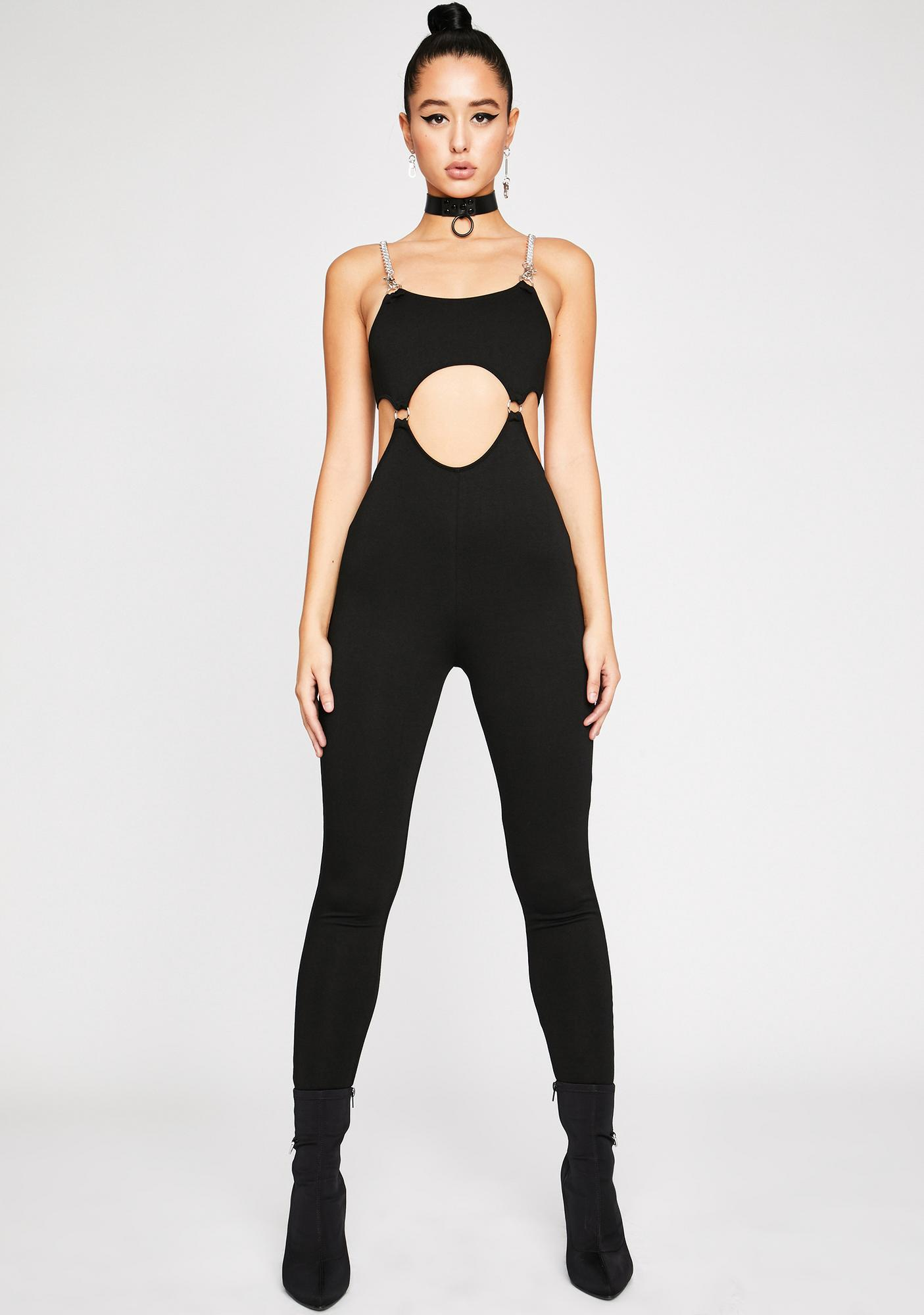Poster Grl Portrait Mode Cut-Out Catsuit