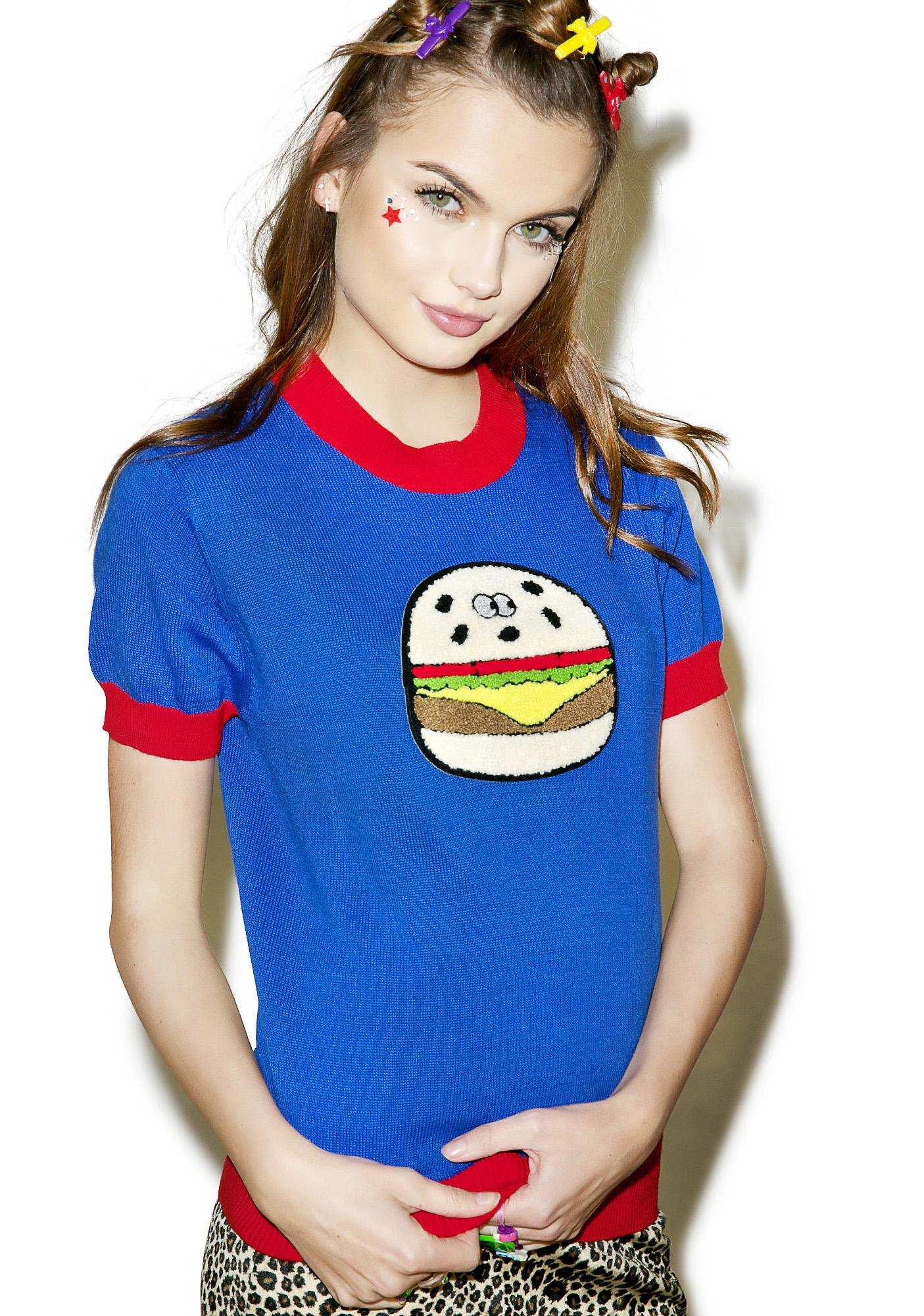 Lazy Oaf Burger Knit Top