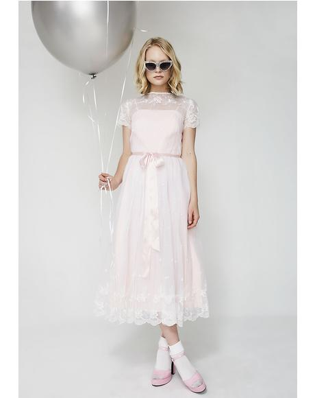 Vintage 70s Lolita Prairie Dress