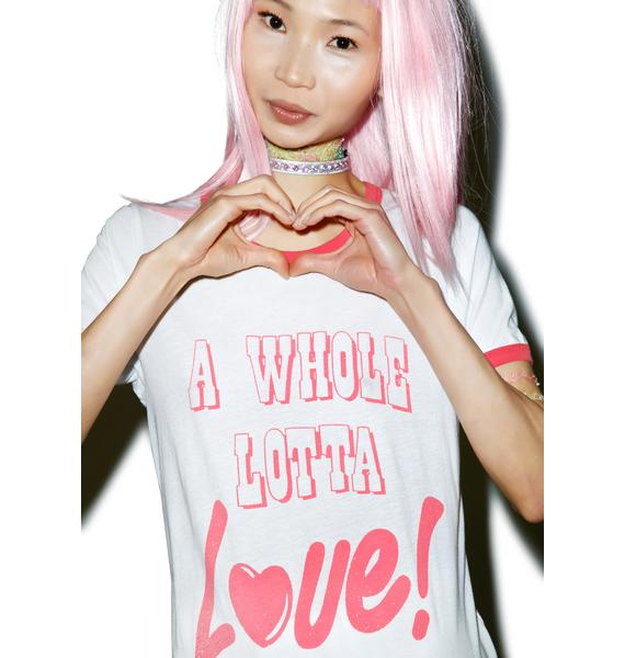 Junk Food Clothing A Whole Lotta Love! Tee