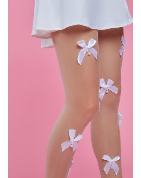 Present Passion Bow Sheer Tights