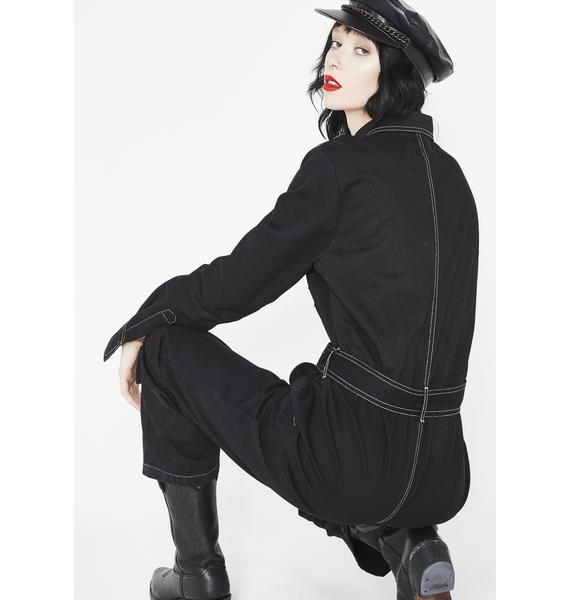 Midnight Adventure Time Belted Jumpsuit