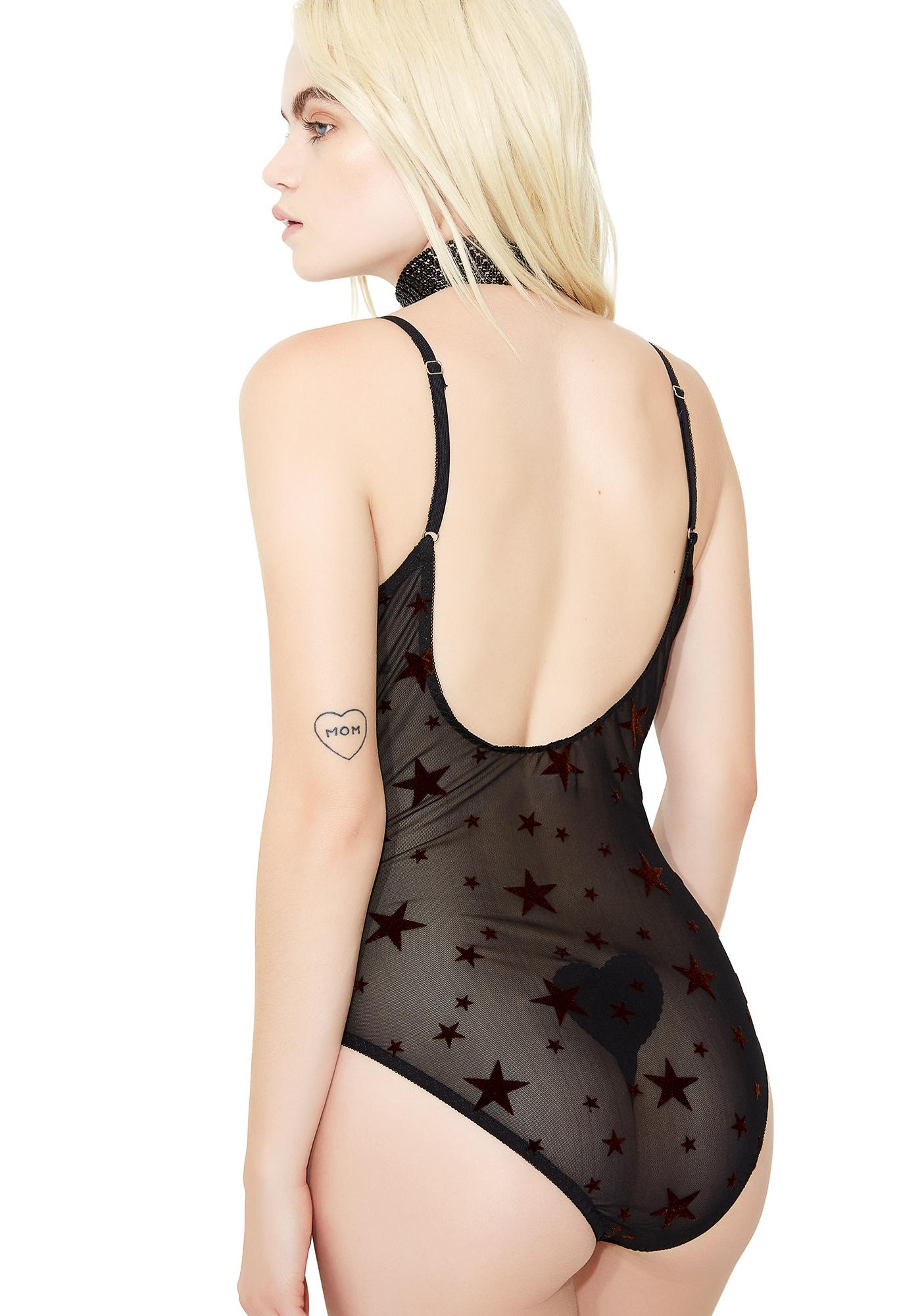 Galactica Sheer Star Bodysuit