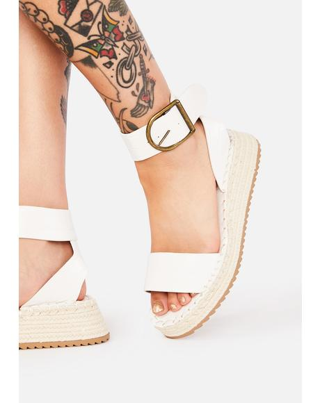 Ivory Under The Sun Espadrille Sandals