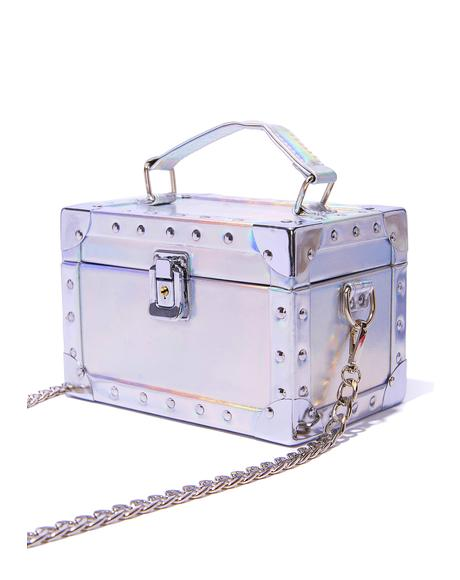 Glam Hologram Mini Trunk Bag