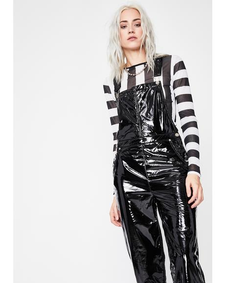 Glaringly Obvious Vinyl Overalls