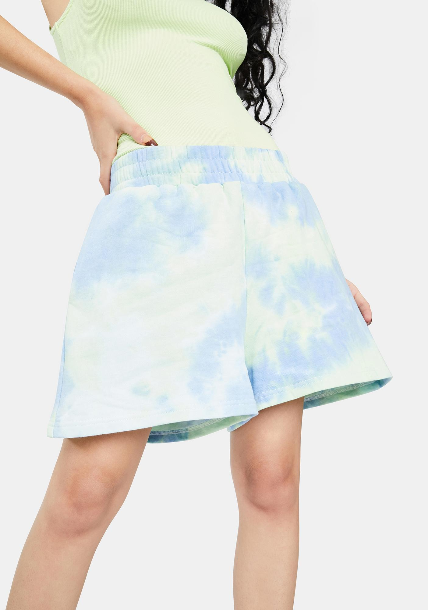 BY DYLN Blue Lincoln Track Shorts