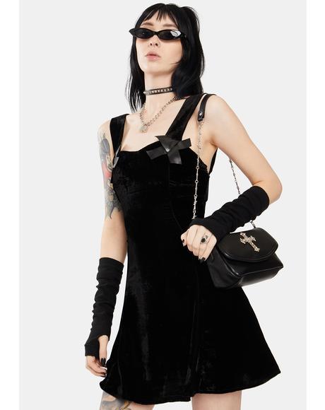 Skylar Elegant Halterneck Velvet Dress