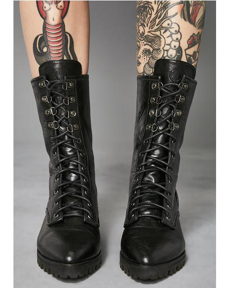 Poison Pointy Combat Boots
