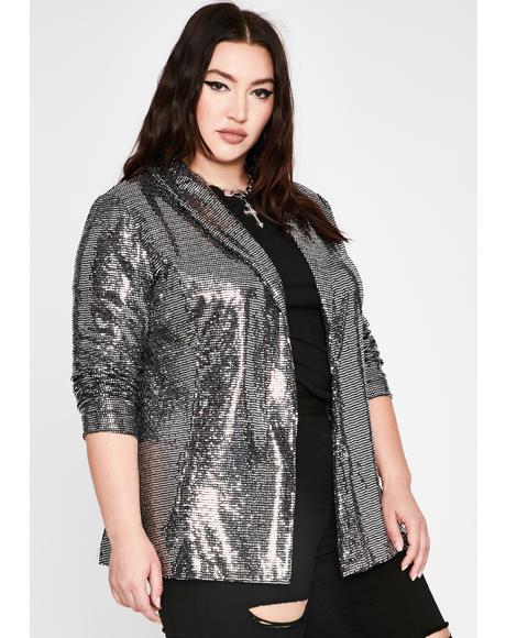 Lux Bold Stunna Sequin Blazer