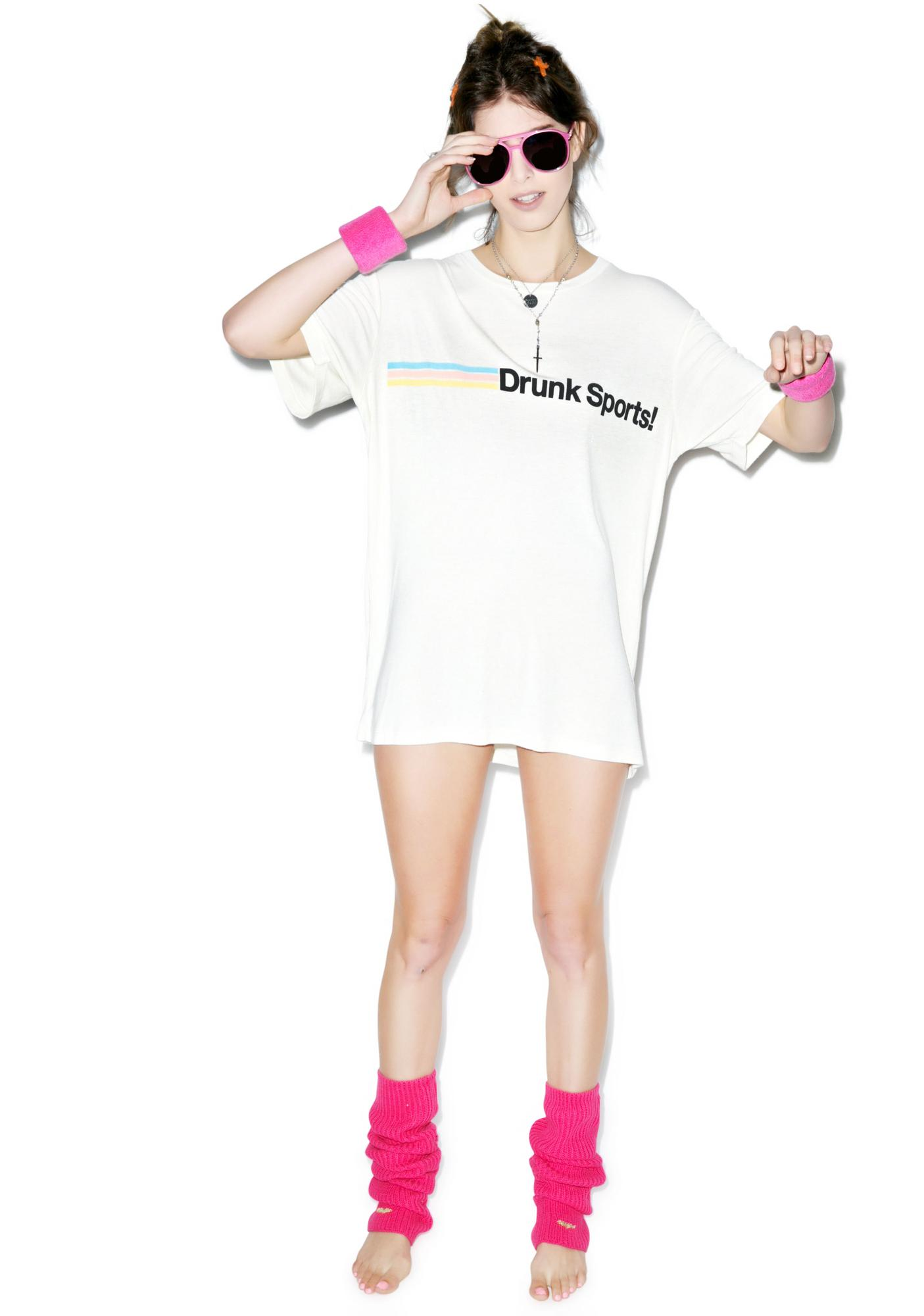Wildfox Couture Drunk Sports Boyfriend Tee